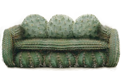 Weird Couches gift ideas: the aristocrat sofa vs. the cactus couch!