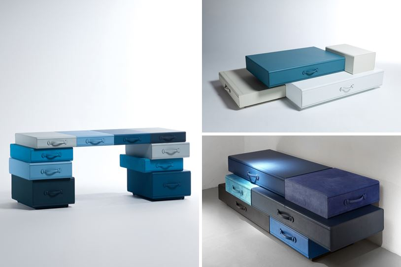 stackable suitcase furniture
