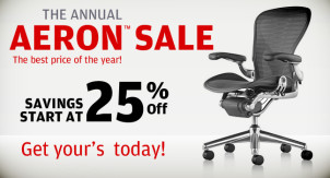Annual Aeron™ Chair Blowout Sale!